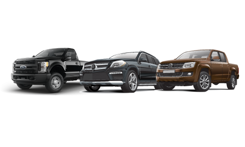 SUV, Standard Truck, Extended Truck